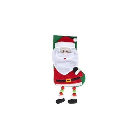 """Chaussette de Noël """"Père Noël"""" avec jambes pendantes"""