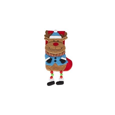 "Chaussette de Noël ""Renne"" avec jambes pendantes"