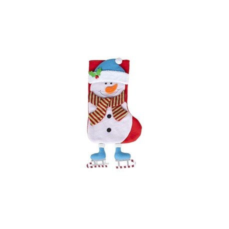 "Christmas socks ""Snowman"" with hanging legs"