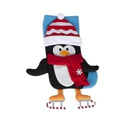 """Kerstsok """"Pinguin"""" met hangende benen"""