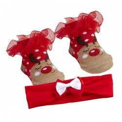 "Sokjes en haarband set ""Rendier"""