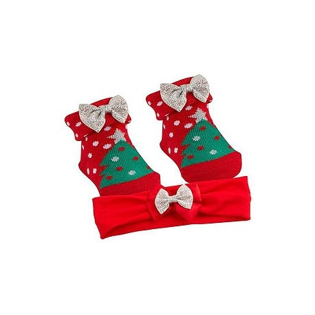 "Socks and Headband set ""Christmas tree"""