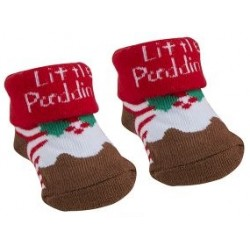 "Socks ""Christmas pudding"" brown"