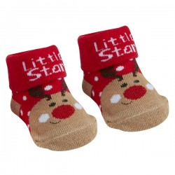 "Socks ""Reindeer"" red"