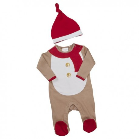 "Christmas sleepsuit ""Reindier"" with hat"