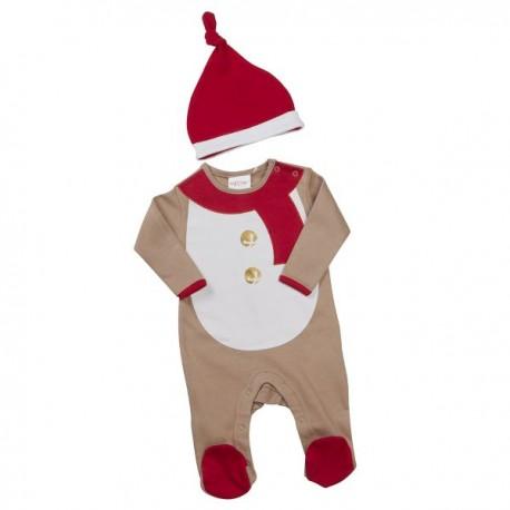 "Pyjama de Noël ""Renne"" avec bonnet"
