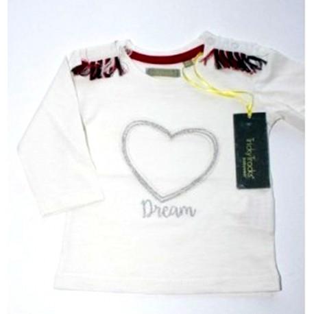 """T-shirt girl """"heart"""" white"""