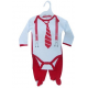 "2 pc ""Suit"" Christmas set with body and trousers"