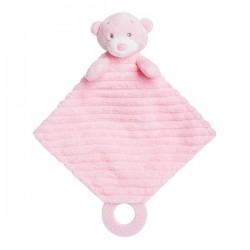 "Bonnie Baby Teether Pink Soft Plush ""Ellie"""