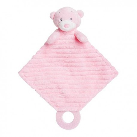 "Bonnie Baby Teether Pink Soft Plush ""Ellie"""