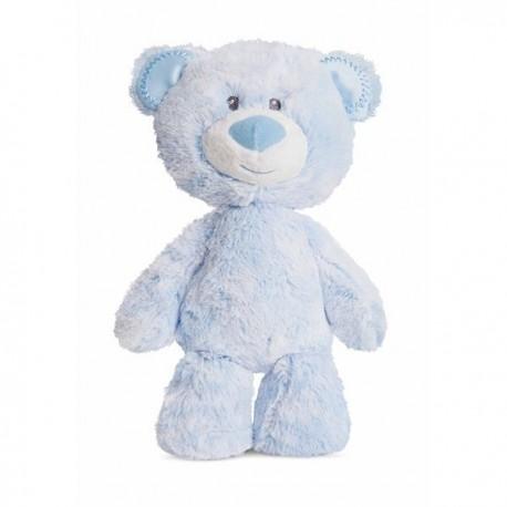 """Huggie Babies Bear Blue Soft Plush """"Tom"""""""