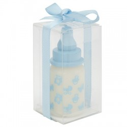 "Candle ""baby bottle"" blue"