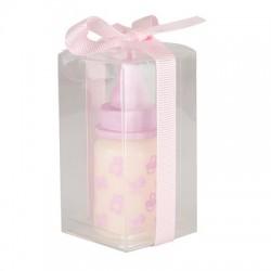 """Kaars """"flesje"""" roze"""
