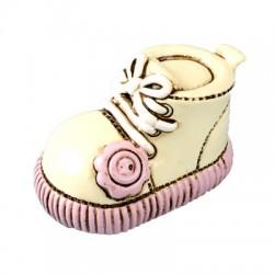 Hars decoratie schoentje roze