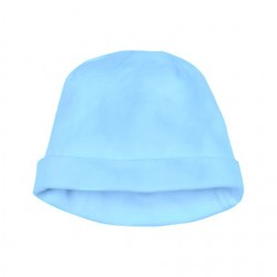 Cotton jersey Baby hat in blue