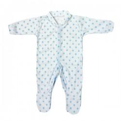 Pyjama à pois bleu