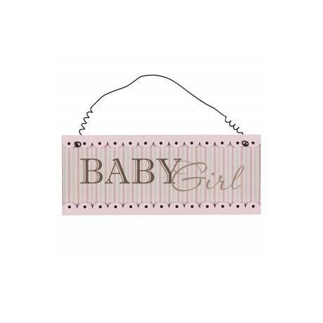Baby Girl Hanging Plaque