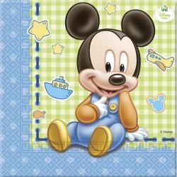 """Papieren servetten """"Baby Mickey Mouse"""" x20"""