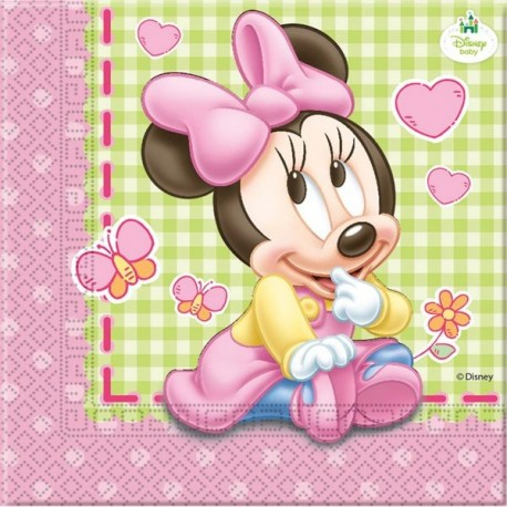 """Luncheon Napkins """"Baby Minnie Mouse"""" x20"""