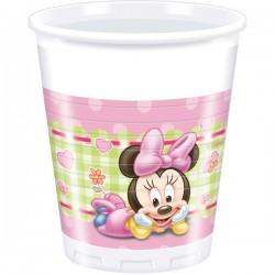 """Gobelets en plasique """"Bébé Minnie Mouse"""" x8"""