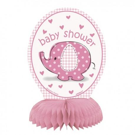 """""""Olifant"""" roze Tafeldecoratie voor Baby Shower x4"""