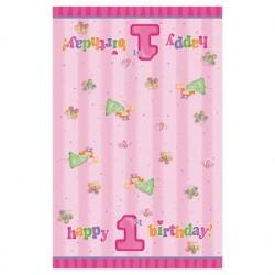 """Nappe """"1st birthday"""" + féé / papillons"""