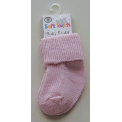 Cotton baby socks - pink Newborn