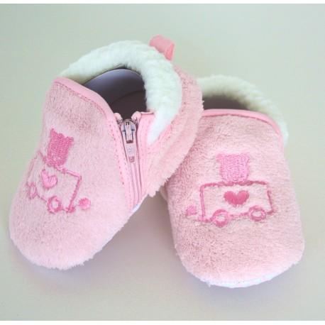 Pantoffels beertje roze