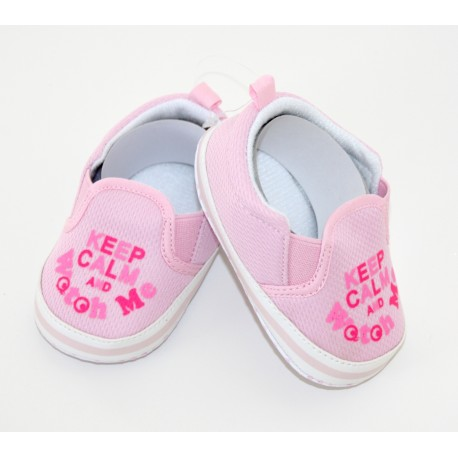"Petites chaussures ""Keep Calm"" roses"