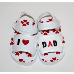 "Soft sandals ""I love Dad"" white"