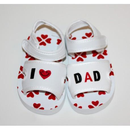 """Sandalen """"I love Dad"""" wit"""