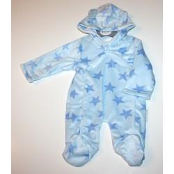"Pyjama à capuche ""étoiles"" bleu"