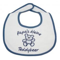 """Bib """"Papa's kleine Teddybeer"""" blue"""