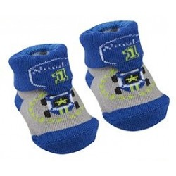 "Socks ""racing cars"" blue and gray"