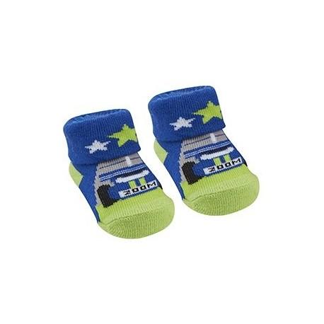 "Socks ""racing cars"" blue and green"