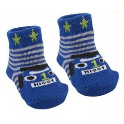 "Socks ""racing cars"" blue"