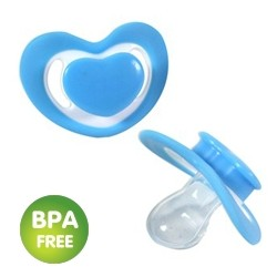 Heart-shaped soother blue (pack of 2)