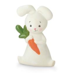 Petit lapin blanc à mâchouiller