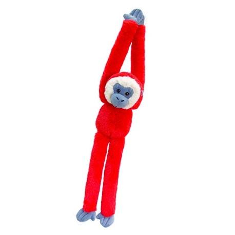 Plush monkey 50 cm red