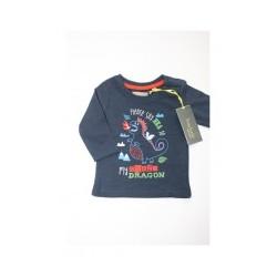 """T-shirt jongen """"dinosaurus"""" blauw"""