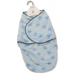 """Sac de couchage bleu """"petites étoiles"""" nouveau-né"""