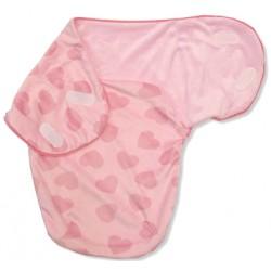 """Slaapzak voor pasgeboren """"hartjes"""" roze"""