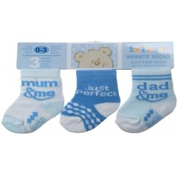 Packs Of Socks With 3 Designs - Boys Blue Pack