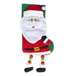 "Christmas socks ""Santa Claus"" with hanging legs"