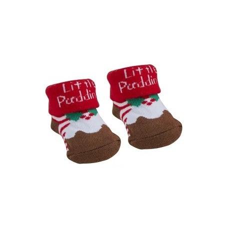 "Sokjes ""Kerstpudding"" bruin"