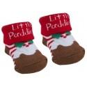 """Socks """"Christmas pudding"""" brown"""