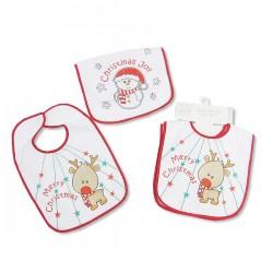 """Pack of 2 Christmas bibs """"Reindeer"""" and """"Snowman"""""""