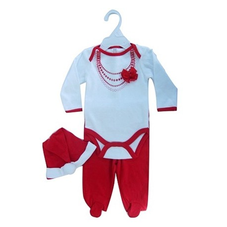 """3 pc """"Fancy suit"""" Christmas set with body, trousers and hat"""