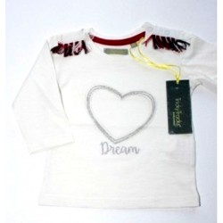 "T-shirt girl ""heart"" white"